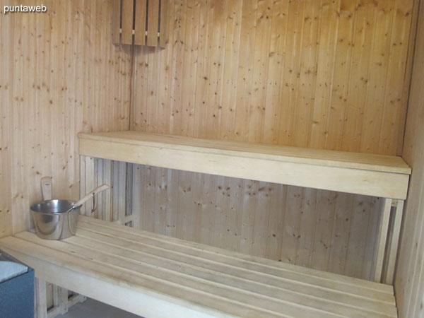 Sala de masajes en el sector de spa.
