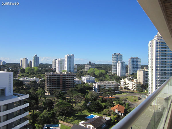 View to the northeast suburbs of environment from the terrace balcony.