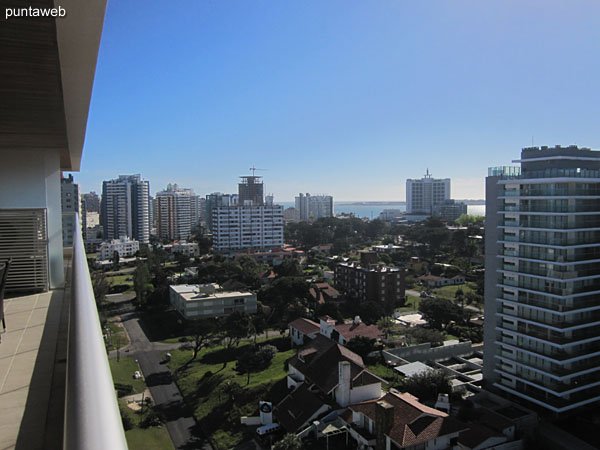View to the west on the evening of Punta del Este from the terrace balcony.