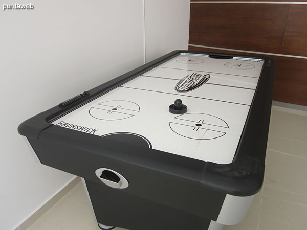 Foosball in the game room for children and adolescents.