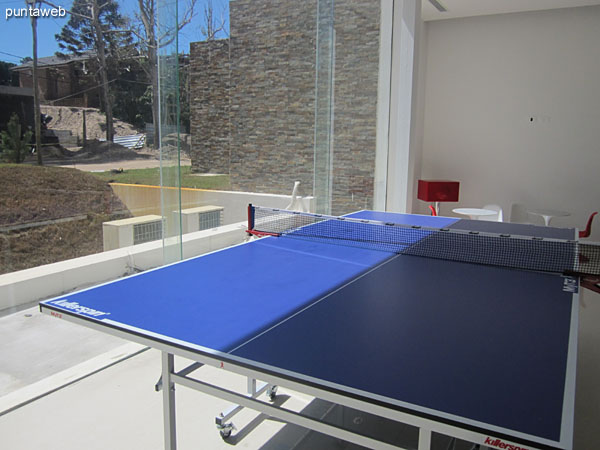 Ping–pong table in the playroom for children and adolescents.