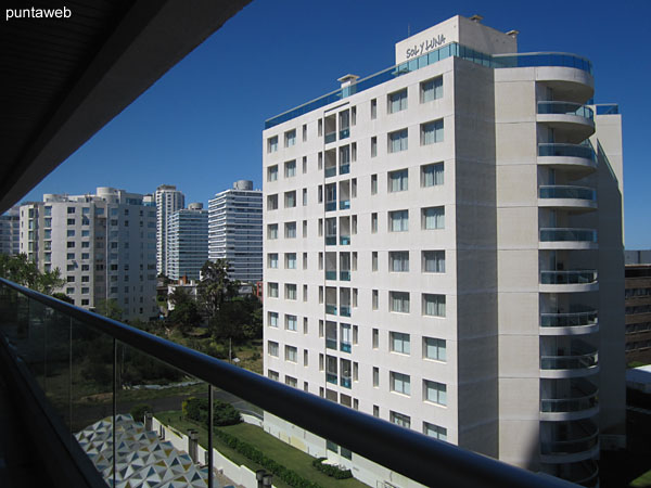 Overview of terrace apartment balcony.