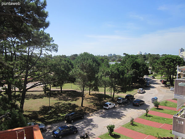View from the terrace of the building towards the surroundings.
