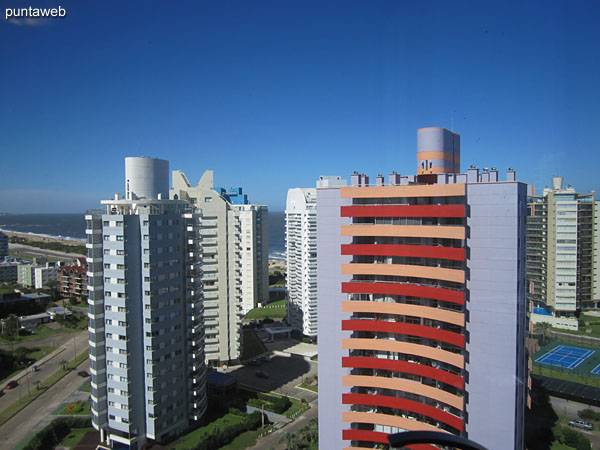 View from the suite towards the Brava beach and surroundings of buildings.