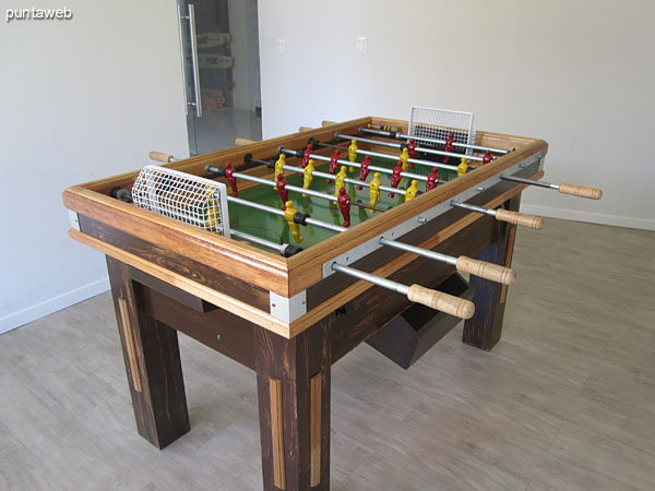 Ping–pong in the game rooms downstairs.