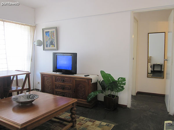 Access to the apartment from your door to the living room.