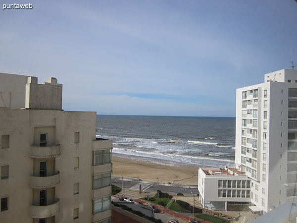 View towards Brava beach from the main room of the apartment.
