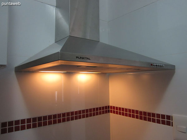 Detail of extractor hood.