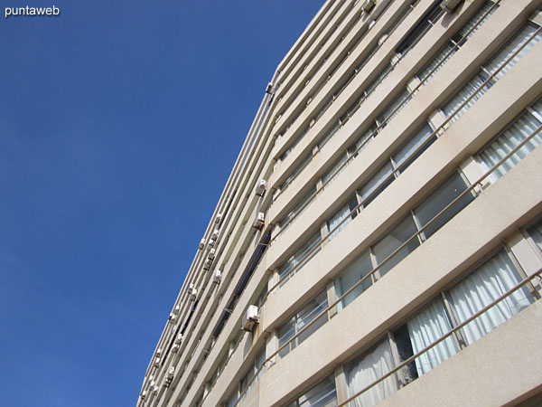 East facade of the building on which the apartment is located.