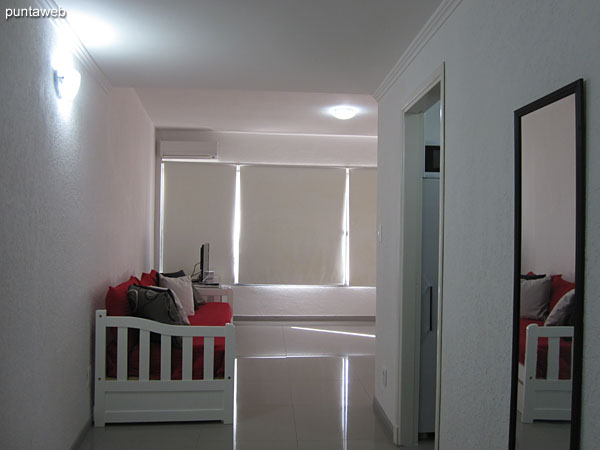 View of the corridor to access the apartment.