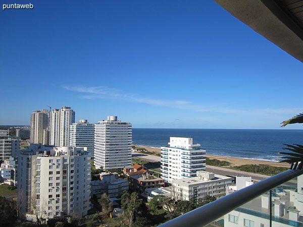View from the living room to the east on the Brava beach.