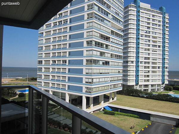View towards surrounding buildings in a southeast direction from the terrace balcony of the apartment.