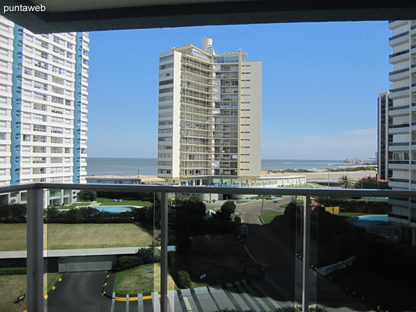 View from the living room of the apartment towards the Brava beach.