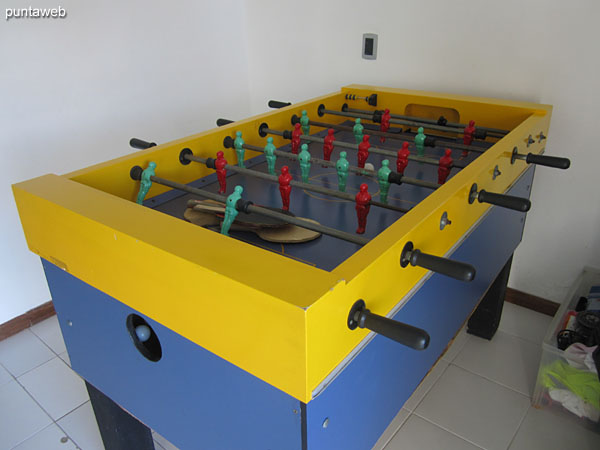 Futbolito in games room. In this room there is also a ping pong table.