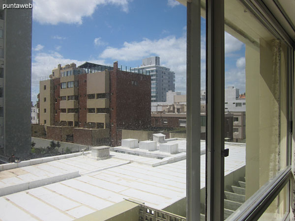 View from the main bedroom to the northwest on 28th street and 20th street.