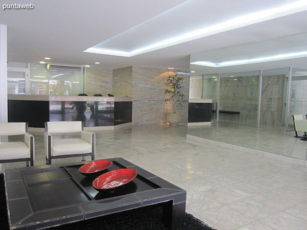 Lobby of the building. It has a living space.