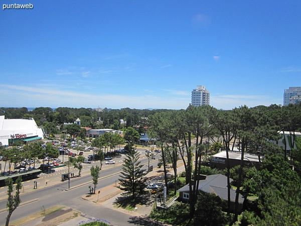 Vista desde el comedor hacia el contrafrente sobre entorno de barrios residenciales.