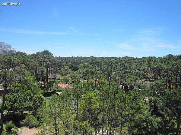 Vista desde la suite hacia el noroeste sobre la Av. Roosevelt y entorno de barrios residenciales.