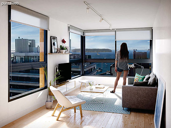 Apartamentos con vistas hacia el puerto de Punta del Este.