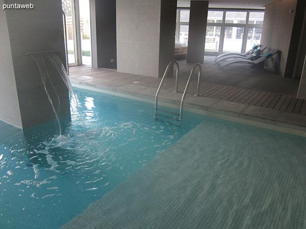 Sector de duchas en el Spa.