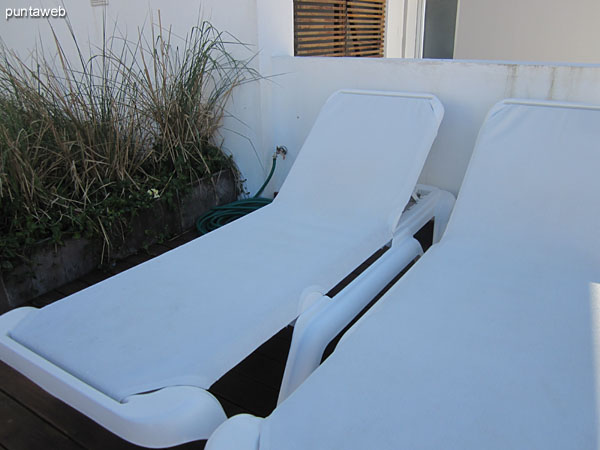 Chairs in the field of outdoor pool.
