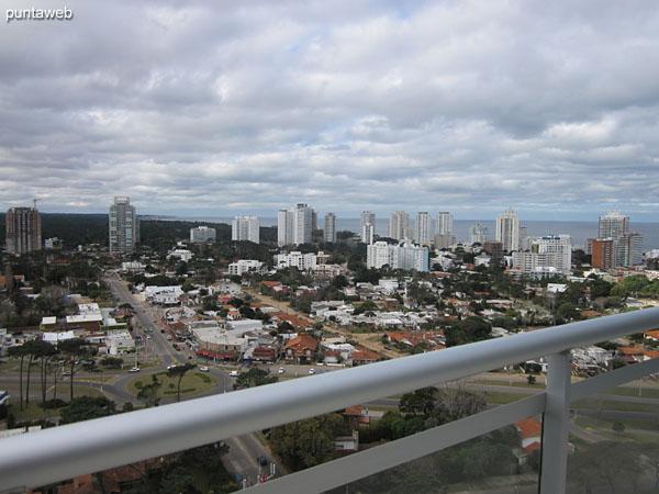 Vista desde la terraza del edificio.