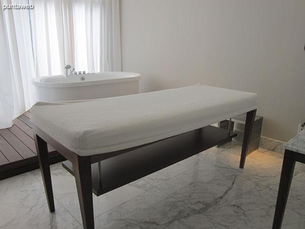 Sala de masajes.