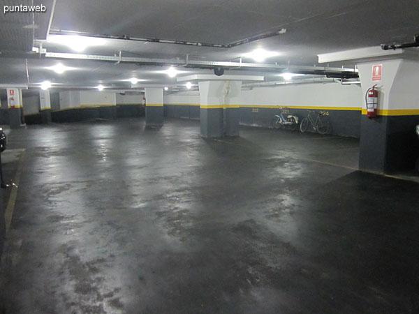Vista general del garage.