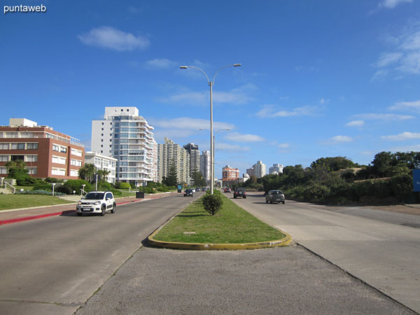 Rambla Claudio Williman to the peninsula of Punta del Este in front of the building.