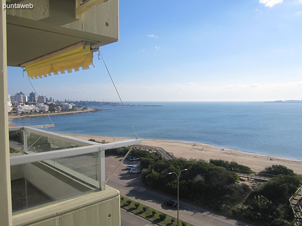 View towards the bay of Punta del Este on Mansa beach from the window of the living room.