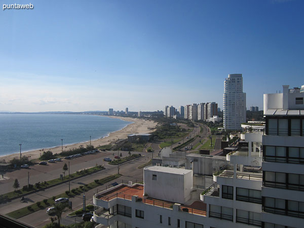 View towards the bay of Punta del Este from the window of the master suite.