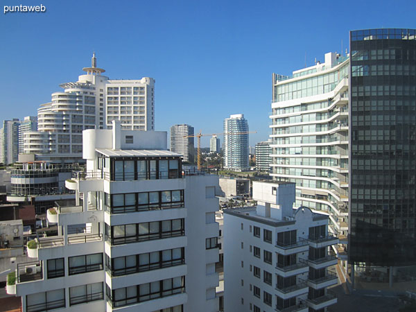 View towards the north side on the buildings environment from the window of the service bedroom.