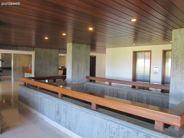 General view of the building lobby.