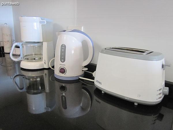 Electrodomésticos en la cocina.