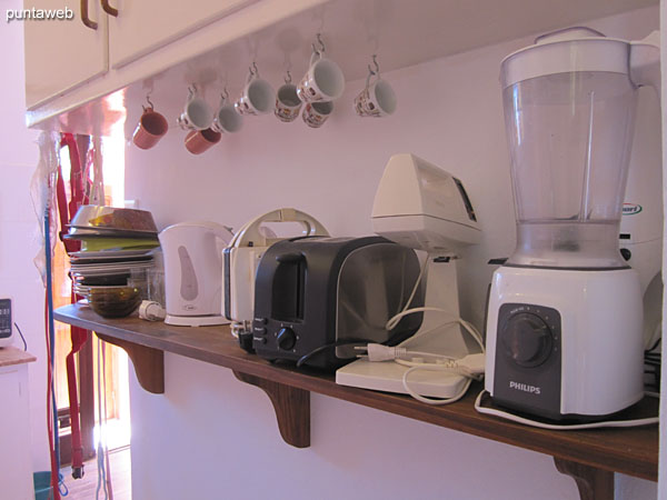 Detail of household appliances in the kitchen.
