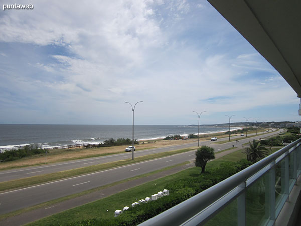 View towards the northwest – Punta Ballena – from the terrace balcony of the apartment.