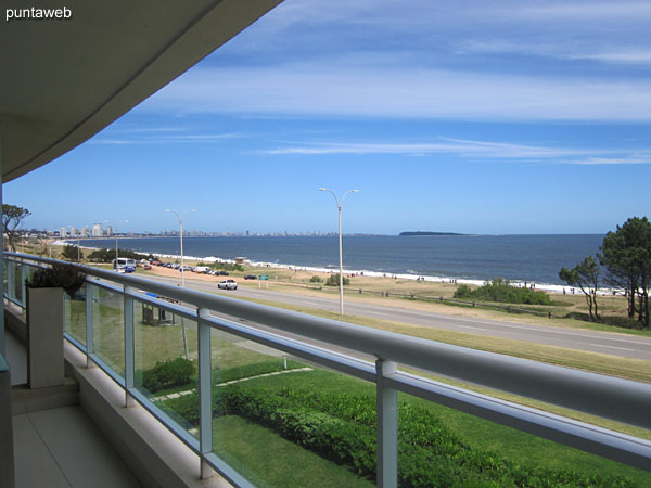 View towards the southwest – Punta del Este – from the terrace balcony of the apartment.