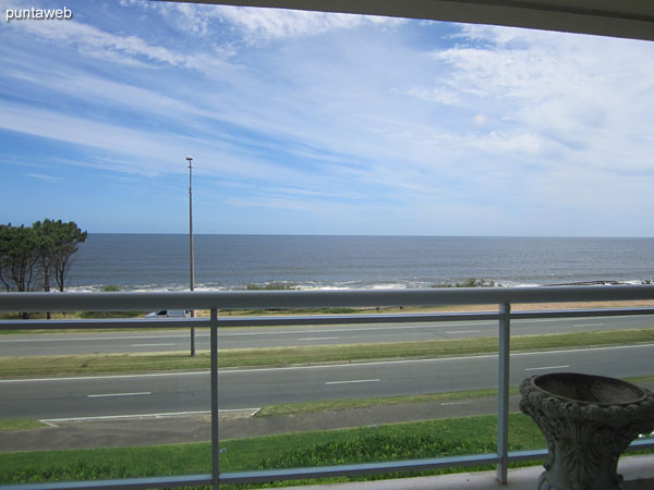 View towards the sea from the window of the master suite.