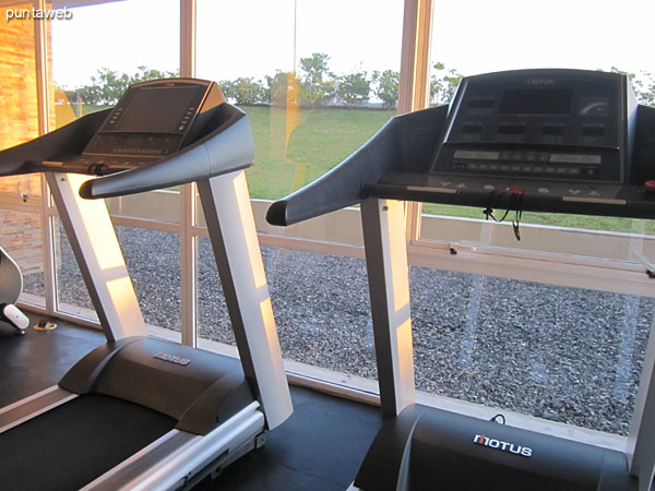 Detail of the gym equipment.