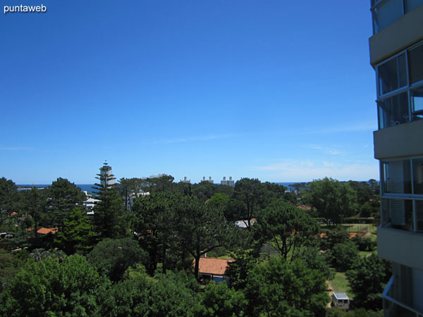 View from the suite towards the residential neighborhood towards the Mansa beach.