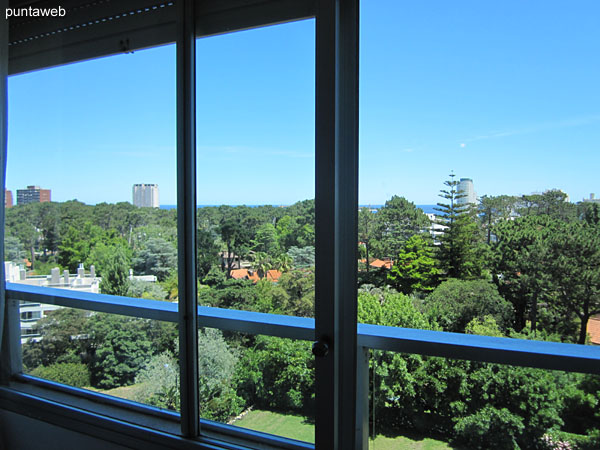 View towards the surroundings of the residential area towards the Mansa beach from the window of the second bedroom.