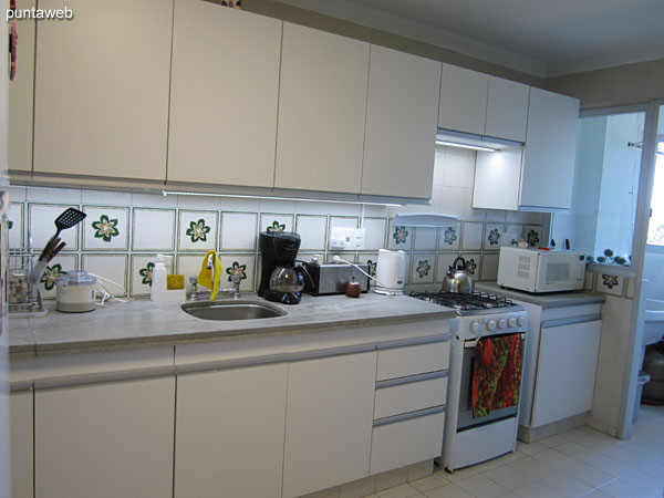 Kitchen, spacious. With access to laundry room with window to the west.