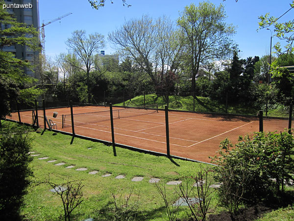 One of the two brick powder tennis courts.