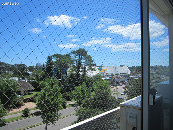 View to the west in the direction of Punta Shopping on Roosevelt Avenue from the balcony of the apartment.