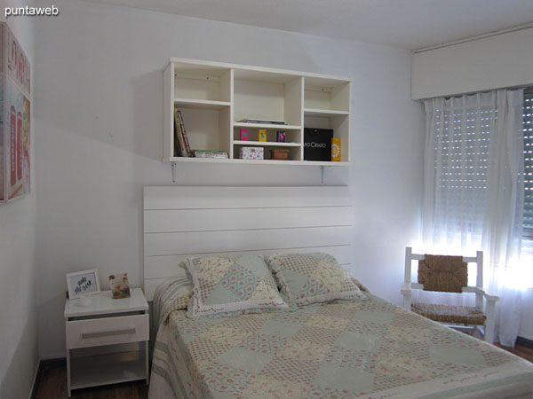 Second bedroom Located towards the east and south side of the apartment. It has a double bed, TV with cable and blinds with electric mechanism.