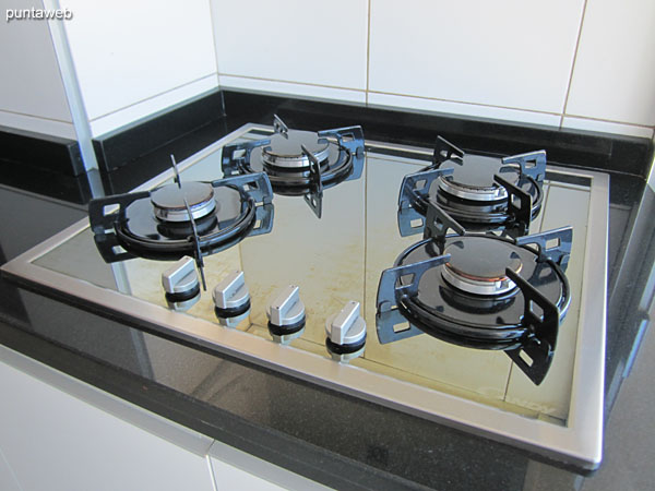 Four burner gas stove.