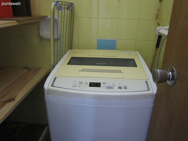 The service bedroom has a bathroom where the washing machine has been arranged. The bathroom has NO functionality.