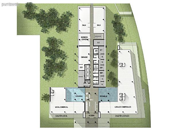 Plano de Planta Baja del edificio.<br>Descripci�n de servicios y accesos.