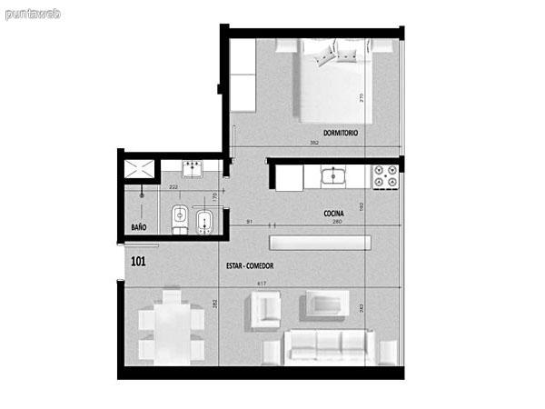 Plano del primer piso.