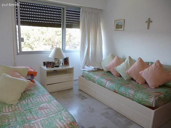 Dormitorio de servicio integrado.